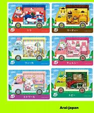 amiibo card x all 6  Sanrio x Animal Crossing Hello kitty Japan complete