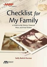 ABA/AARP Checklist for My Family : A Guide to My History, Financial Plans and...