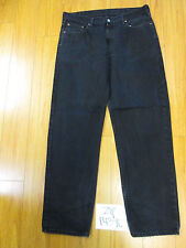 used levi 550 relaxed fit tag 38x34 meas 36x33 black jean zip14390