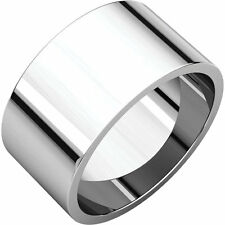 14K Gold Flat Top Tapered Dome Ring 14mm 14K Yellow or White Gold Cigar Band
