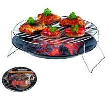 BBQ BARBECUE CHARCOAL GRILL PORTABLE TABLE COOKING TRAY OUTDOOR GARDEN CAMPING