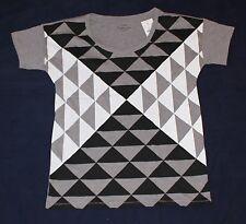 New J. CREW COLLECTION TEES women's Medium M Triangle Gray White Black crew neck