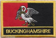 Buckinghamshire County Flag Embroidered Patch Badge - Sew or Iron on