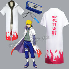 Cosplay Anime Naruto 4th yondaime Hokage Halloween Costume Cloak Headband
