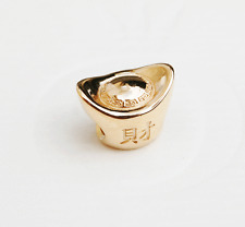 "Genuine Pandora 14ct Gold Charm ""Ingot"" (Chinese Wealth and Prosperity) - 750823"