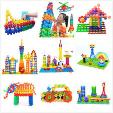 150X Kid Baby Multicolor Building Block Snowflake Creative Educational Xmas Toys