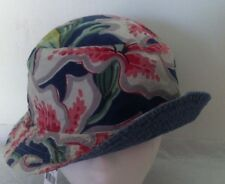 Polo Ralph Lauren Bucket Hat~Chambray~Reversible~Hawaiian Floral~Size S/M~NWT