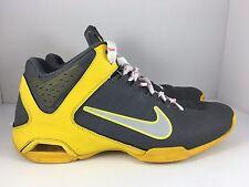 NIKE Air Visi Pro 4 Men US 10.5 Gray + Yellow Athletic Basketball Shoes J33