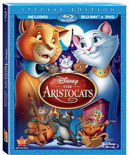 Disney The Aristocats Paris French Cats Animated Movie on Blu-ray DVD Combo Pack