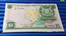 "ERROR Singapore Orchid Series $5 Note ""Prefix Number 45 Overprint on Dollars"""