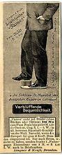 """Lingner & Kraft Dresden STIEFELZIEHER """"FAMOS""""  Historische Reklame von 1895"""