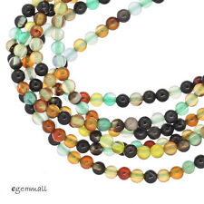 "16"" Mixed Onyx / Agate Round Beads 2mm #58043"