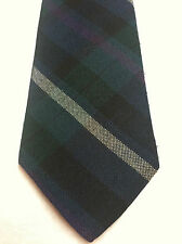 HENNESSY MENS TIE BLUE BLACK PURPLE AND WHITE STRIPES THIN 59 X 3