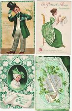 SUPER Postcard LOT of 4 - St Patrick's Day - Signed Ellen Clapsaddle 1908-1918