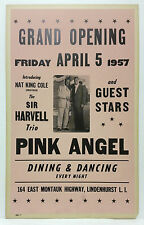 1957 NAT KING COLE New York Cardboard Boxing Style Concert Poster