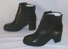 ASOS Women's Premium After Glow Black Leather Ankle Boots Size US 10 UK 7 $160