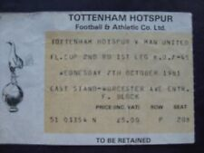 TOTTENHAM V Manchester United  07/10/1981  USED TICKET