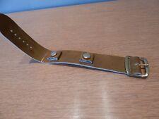 Nos 1960s 70s Vintage Wrist Watch Band Patent Olive Mod Retro Boho Cuff Bracelet
