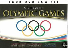 STORY OF THE OLYMPIC GAMES - 4 DVD BOX SET - GREATEST, GOLDEN MOMENTS & MORE