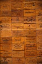 50 Assorted BRANDED WINE PANELS.  CRATE /Box SIDE /End Tops / Wood Diff. Sizes