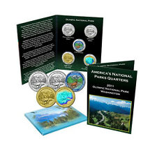 2012 Olympic National Park Quarter Collection Colorized Gold Plated Hologram BU