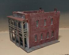 Weathered N Scale Hotel Building  - Built Up.