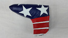 Sunfish liberty american flag leather blade putter golf headcover USA