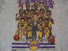 Vintage NBA Los Angeles Lakers Sam Perkins Vlade Divac Caricature T Shirt XL