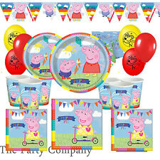 Peppa Pig Deluxe Birthday Party Kit for 16 Children Plates Cups Balloons Bunting
