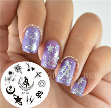 Lune étoile Ongle Nail Art Stamp Stamping Image Template plaque BORN PRETTY 06