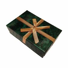 Green Paper Cardboard Necklace Earring Gift Box Jewelry Case Container 5ps