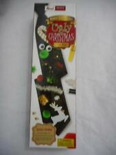 NOEL Make your own UGLY CHRISTMAS TIE KIT Special Edition Pre-Tied Zipper Black