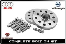2pc Hub Centric Wheel Spacers Kit 15mm Thick 5x100 / 5x112 For Audi & Volkswagen
