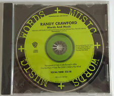 Randy Crawford Words And Music Promotional CD As New