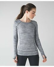 NWT Lululemon Race Your Pace LS Space Dye Camo Seal Grey size 4