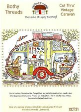 BOTHY THREADS CUT THRU VINTAGE CARAVAN COUNTED CROSS STITCH KIT 36x26cm - NEW