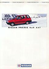 Nissan Prairie 4x4 KAT Prospekt 1986 Vorabinformation Auto PKWs Japan Asien