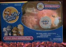 ZHU ZHU PETS CARLY EXCLUSIVE ZHU ZHU HAMSTER PEACH & PINK WITH WHITE PAWS RARE