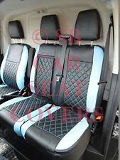 TO FIT A FORD TRANSIT CUSTOM VAN, SEAT COVERS, 2016, BL / BK BENTLEY DIAMOND