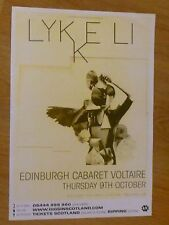 Lykke Li - Edinburgh oct.2008 tour concert gig poster