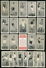 1955 The Wizard FAMOUS FOOTBALLERS -Complete Set (24) Alan Finney, Bobby Collins