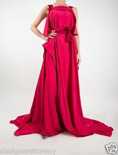 Bottega Veneta Hot Pink Draped Satin Gown Dress MSRP $4200 size 40