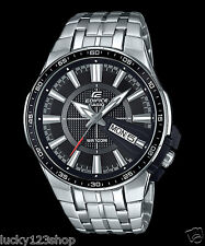 EFR-106D-1A Black Casio Edifice Men's Watches Stainless Band Analog New