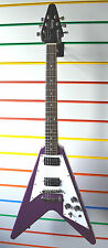 TEXAS PURPLE Custom by Quincy Flying V style electric guitar rare one off