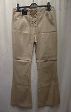 "Ladies NEW LOOK Beige Lace Up Kickflare Trousers Fit Size 10 L32"" BNWT"