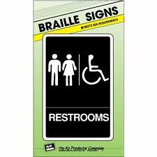 HyKo 20408391 Braille - Restrooms Handicap Access Bathroom Sign
