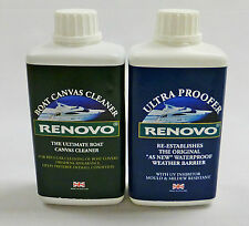"Renovo Boat / Marine Canvas Cleaner and Ultra Proofer ""KIT""  2 x 500ml."