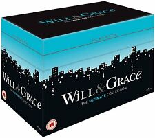 "WILL & AND GRACE The Complete Seasons Series 1 2 3 4 5 6 7 8 DVD BOX SET ""dent"""