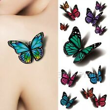 3D Butterfly Tattoo Decals Body Art Decal Flying Butterfly Waterproof Tattoo