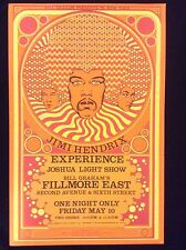 JIMI HENDRIX EXPERIENCE FILLMORE CONCERT POSTER 4th PRESSING MINT CONDITION